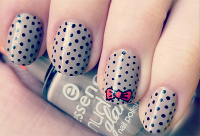 15-Polka-Dot-Bow-Nail-Art-Designs-Ideas-Trends-2014-14