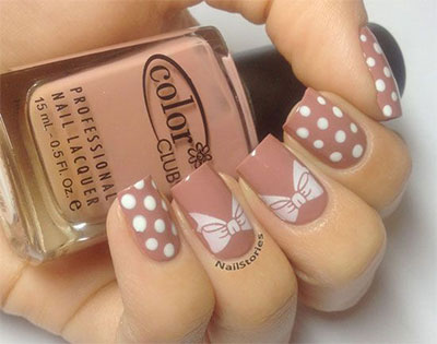 15-Polka-Dot-Bow-Nail-Art-Designs-Ideas-Trends-2014-16