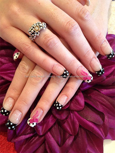 15-Polka-Dot-Bow-Nail-Art-Designs-Ideas-Trends-2014-2