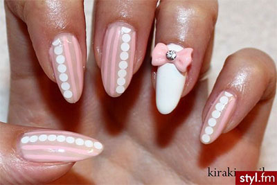 15-Polka-Dot-Bow-Nail-Art-Designs-Ideas-Trends-2014-3
