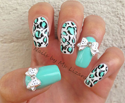 15-Polka-Dot-Bow-Nail-Art-Designs-Ideas-Trends-2014-4