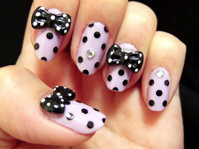15-Polka-Dot-Bow-Nail-Art-Designs-Ideas-Trends-2014-5