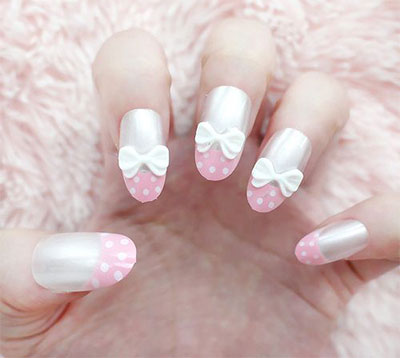 15-Polka-Dot-Bow-Nail-Art-Designs-Ideas-Trends-2014-6