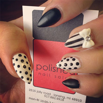 15-Polka-Dot-Bow-Nail-Art-Designs-Ideas-Trends-2014-7