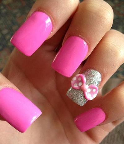 15-Polka-Dot-Bow-Nail-Art-Designs-Ideas-Trends-2014-8