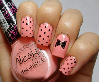 15-Polka-Dot-Bow-Nail-Art-Designs-Ideas-Trends-2014-9