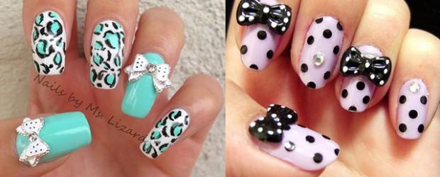 15-Polka-Dot-Bow-Nail-Art-Designs-Ideas-Trends-2014