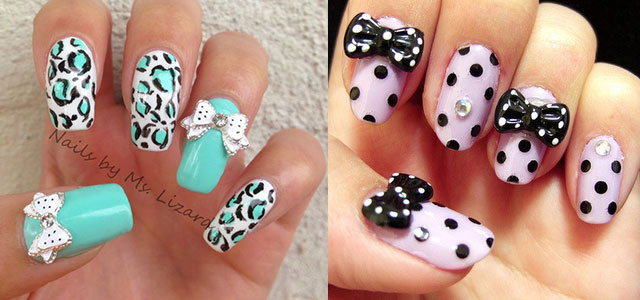 15 polka dot bow nail art designs ideas trends 2014 fabulous nail art designs - Art Design Ideas