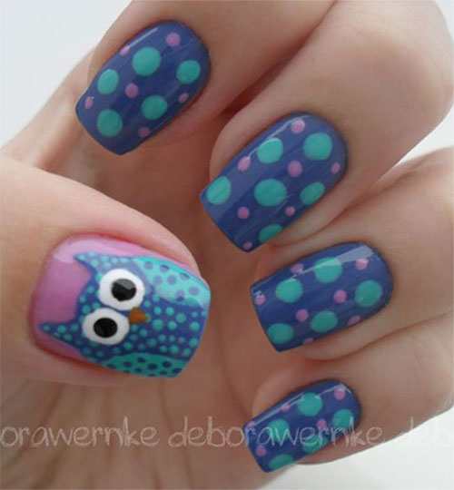 15-Unique-Owl-Nail-Art-Designs-Ideas-Trends-Stickers-2014-10