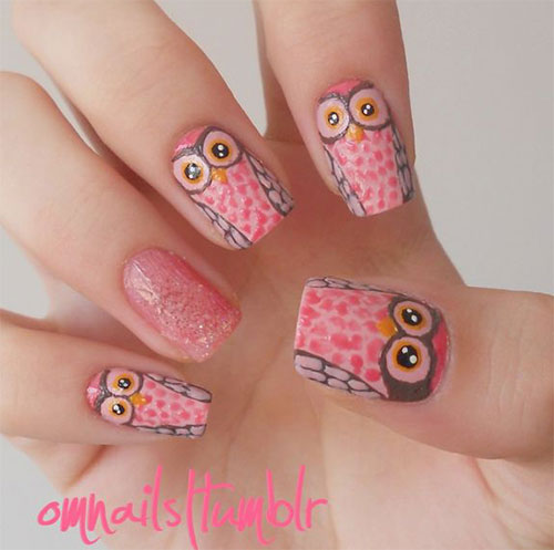 15-Unique-Owl-Nail-Art-Designs-Ideas-Trends-Stickers-2014-11