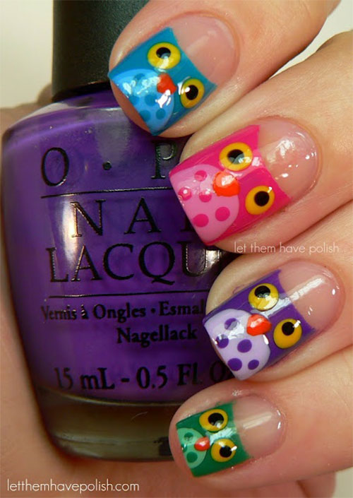 15-Unique-Owl-Nail-Art-Designs-Ideas-Trends-Stickers-2014-14