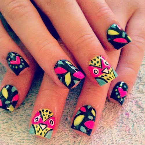 15-Unique-Owl-Nail-Art-Designs-Ideas-Trends-Stickers-2014-15