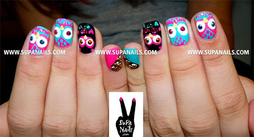 15-Unique-Owl-Nail-Art-Designs-Ideas-Trends-Stickers-2014-16
