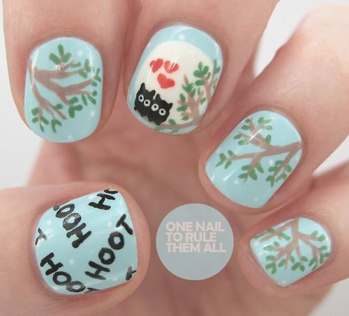 15-Unique-Owl-Nail-Art-Designs-Ideas-Trends-Stickers-2014-2
