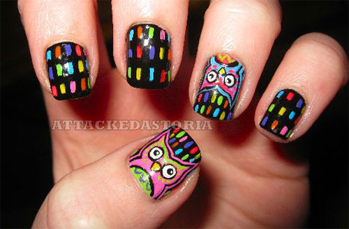 15-Unique-Owl-Nail-Art-Designs-Ideas-Trends-Stickers-2014-4
