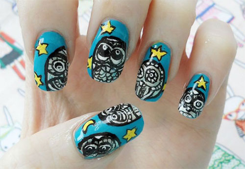 15-Unique-Owl-Nail-Art-Designs-Ideas-Trends-Stickers-2014-5