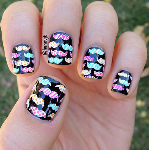 20 cool mustache nail art designs ideas trends - Cool Nail Design Ideas