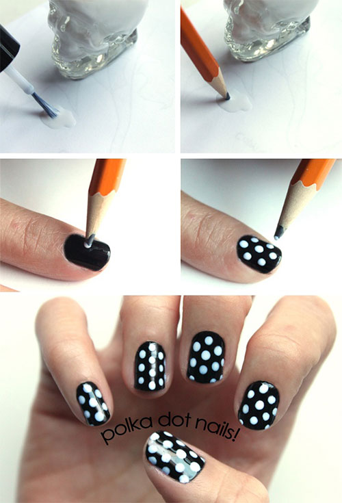 20 simple step by step polka dots nail art tutorials for beginners 20 simple step by step polka dots nail prinsesfo Gallery