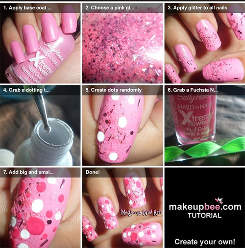20-Simple-Step-By-Step-Polka-Dots-Nail-Art-Tutorials-For-Beginners-Learners-2014-13