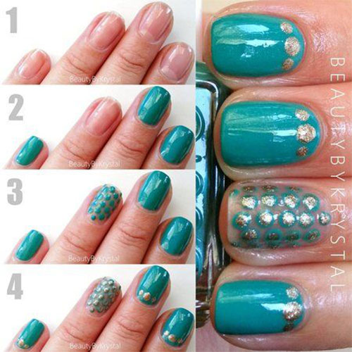 20-Simple-Step-By-Step-Polka-Dots-Nail-Art-Tutorials-For-Beginners-Learners-2014-16