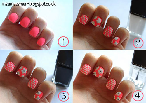 20-Simple-Step-By-Step-Polka-Dots-Nail- - 20 Simple Step By Step Polka Dots Nail Art Tutorials For Beginners
