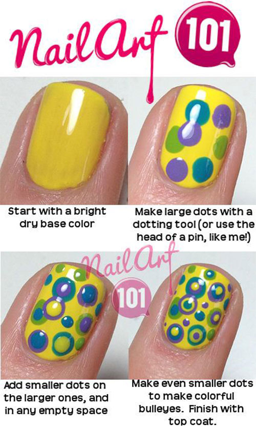 20-Simple-Step-By-Step-Polka-Dots-Nail-Art-Tutorials-For-Beginners-Learners-2014-19