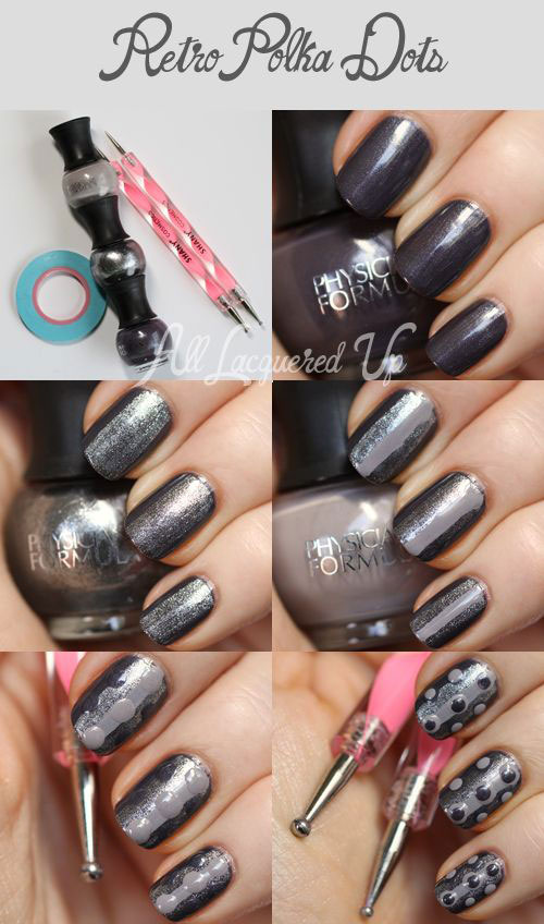 20-Simple-Step-By-Step-Polka-Dots-Nail-Art-Tutorials-For-Beginners-Learners-2014-2