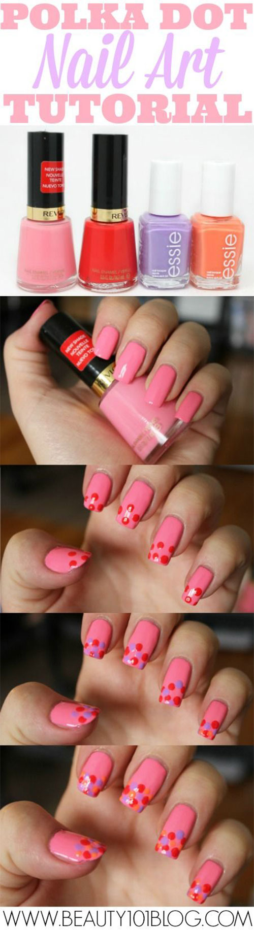 20-Simple-Step-By-Step-Polka-Dots-Nail-Art-Tutorials-For-Beginners-Learners-2014-4