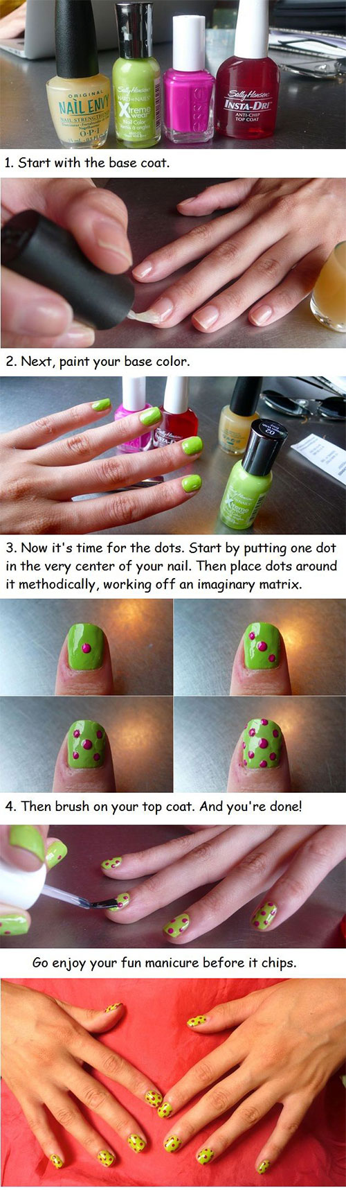 20-Simple-Step-By-Step-Polka-Dots-Nail-Art-Tutorials-For-Beginners-Learners-2014-5