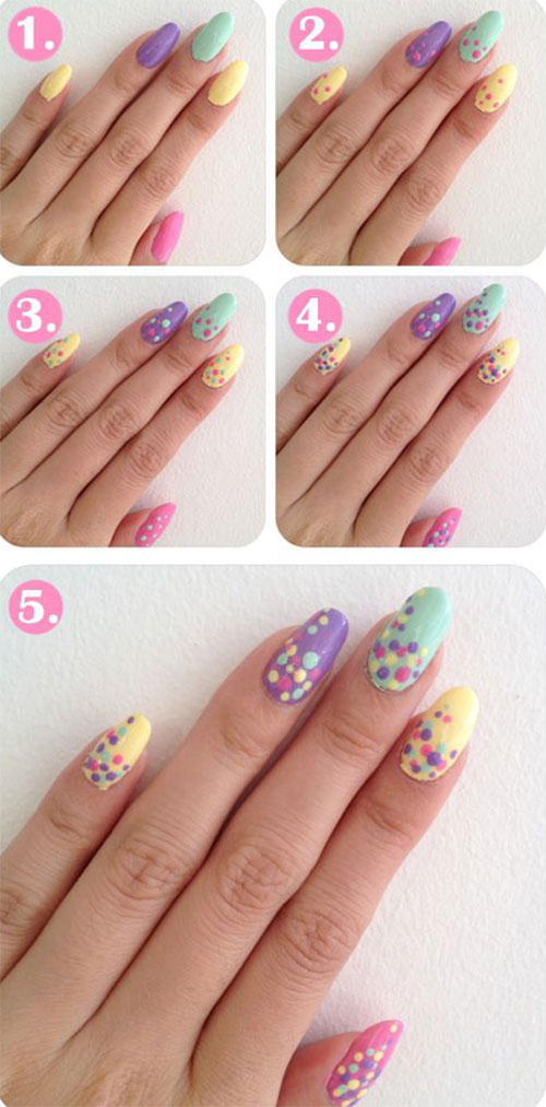 20-Simple-Step-By-Step-Polka-Dots-Nail-Art-Tutorials-For-Beginners-Learners-2014-8
