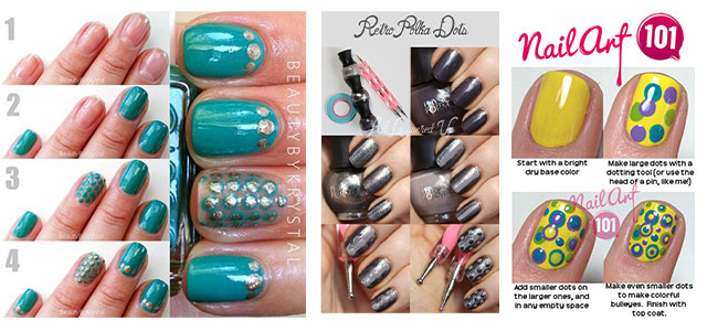 20-Simple-Step-By-Step-Polka-Dots-Nail-Art-Tutorials-For-Beginners-Learners-2014