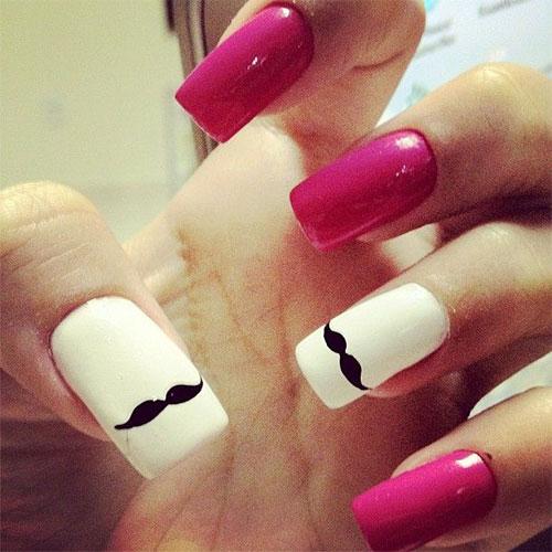 Cute-Easy-Moustache-Nail-Art-Designs-Ideas-Trends-2014-2