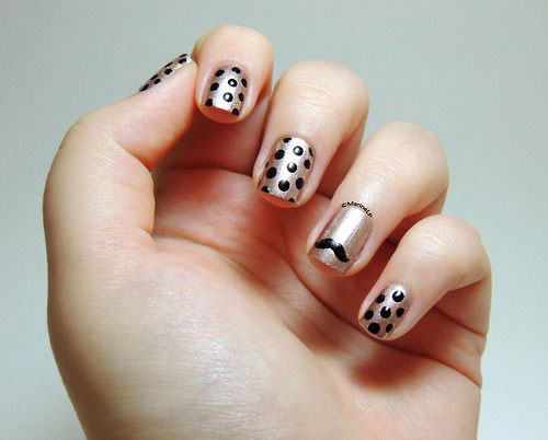 Cute-Easy-Moustache-Nail-Art-Designs-Ideas-Trends-2014-3