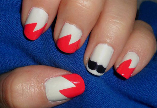 Cute-Easy-Moustache-Nail-Art-Designs-Ideas-Trends-2014-4