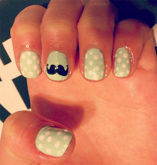 Cute easy moustache nail art designs ideas trends 2014 cute easy moustache nail art designs ideas trends prinsesfo Images