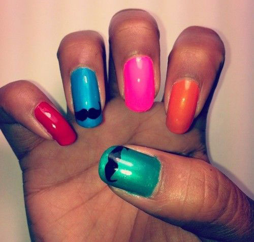 Cute-Easy-Moustache-Nail-Art-Designs-Ideas-Trends-2014-6