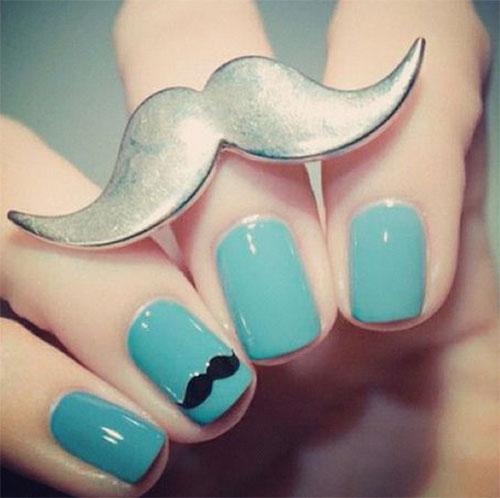 Cute-Easy-Moustache-Nail-Art-Designs-Ideas-Trends-2014-7