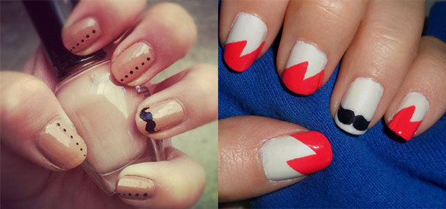 Cute-Easy-Moustache-Nail-Art-Designs-Ideas-Trends-2014