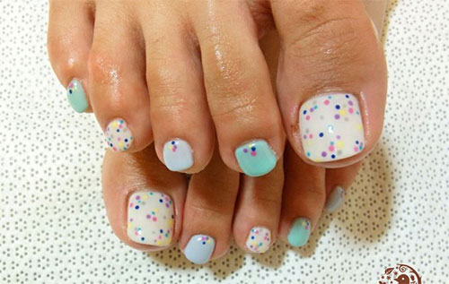 Easy-Polka-Dots-Toe-Nail-Art-Designs-Ideas-Trends-2014-3