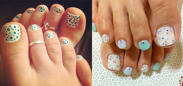 Easy Polka Dots Toe Nail Art Designs Ideas Trends 2014 Fabulous