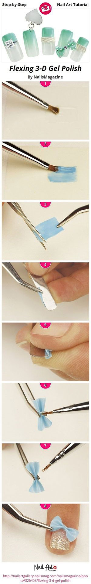 Easy-Simple-Step-By-Step-Gel-Nail-Art-Tutorials-For-Beginners-Learners-2014-10