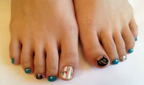 Owl-Toe-Nail-Art-Designs-Ideas-Stickers-2014-1