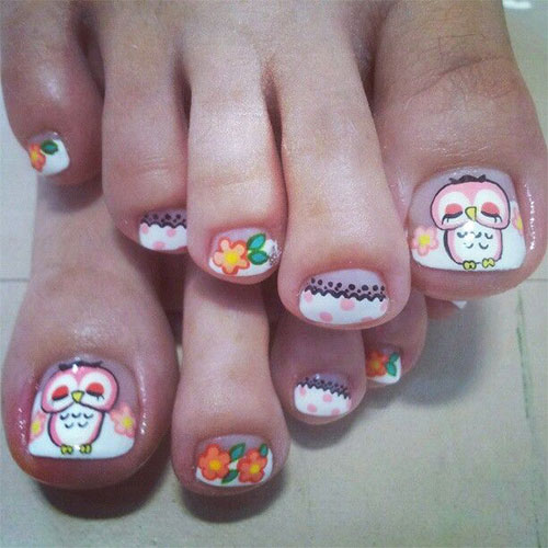 Owl-Toe-Nail-Art-Designs-Ideas-Stickers-2014-2