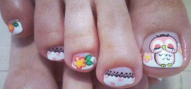 Owl Toe Nail Art Designs Ideas Stickers 2014 Fabulous Nail Art