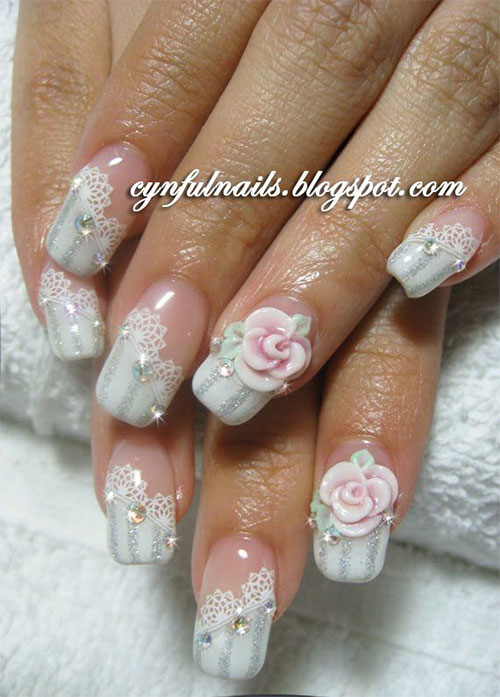 10-Inspiring-3D-Wedding-Nail-Art-Designs-Ideas-Trends-Stickers-3d-Nails-1