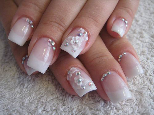 10 Inspiring 3D Wedding Nail Art Designs Ideas Trends Amp Stickers