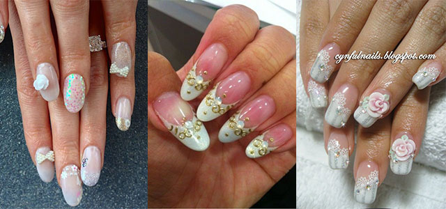 10 Inspiring 3D Wedding Nail Art Designs Ideas Trends Stickers