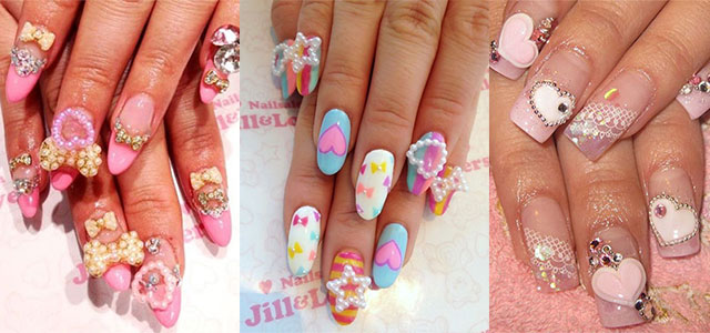 12 Amazing 3d Heart Nail Art Designs Ideas Trends Stickers