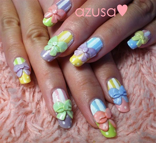 12-Stylish-3D-Bows-Nail-Art-Designs-Ideas-Trends-Stickers-3d-Nails-2