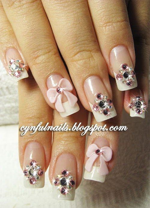12 Stylish 3d Bows Nail Art Designs Ideas Trends Stickers 3d